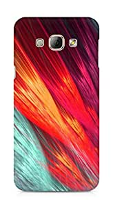 Amez designer printed 3d premium high quality back case cover for Samsung Galaxy A8 (Abstract Colorful 5)