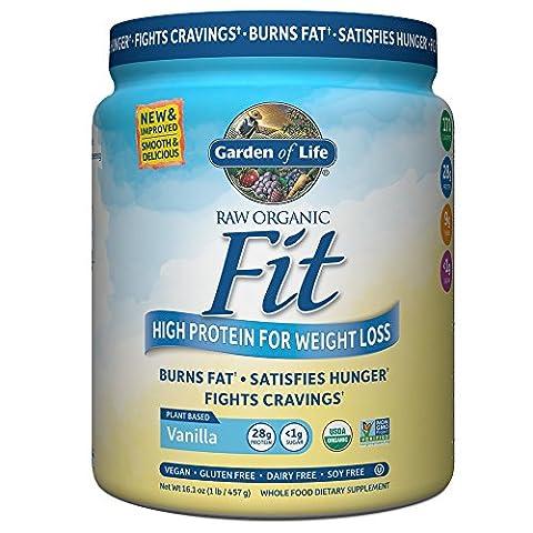 RAW Fit, High Protein pour perdre du poids, la vanille, le 15 oz (420 g) - Garden of Life