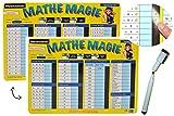 Unbekannt Stift + Pressogramm: schreib und wisch Weg - Zahlen bis 100 Multiplizieren, Addieren + Uhrzeit Lernen - Zum Rechnen Mathematik Uhr