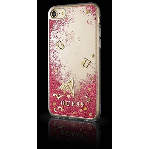 Guess Coque rigide liquide avec Motif paillette pour iPhone6/6S/7/8 Rose