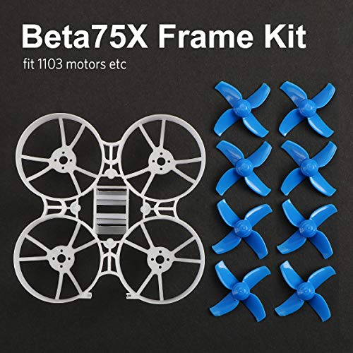 BETAFPV Beta75X 2S Whoop Frame Kit with 2 Sets 40mm 4-Blade Props 1.5mm Shaft Blue for 75mm 2S Whoop Drone Like Beta75X BNF