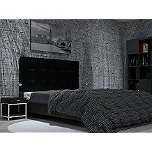 LA WEB DEL COLCHON Cabecero de Cama tapizado Acolchado Corfú (Cama 200) 210 x