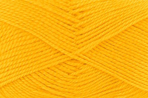 änge pro Knäuel, Lisa uni, 50 g, 10-er Pack, 133 m, gelb (Gelb-wolle Pullover)