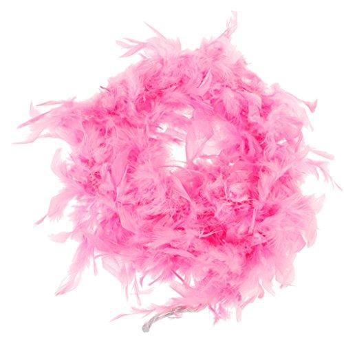Homyl 6.6M Federboa Flauschig Party Dekoration Kostüm Fasching Feder Schal - Rosa (Machen Sie Eine Türkei Kostüm)