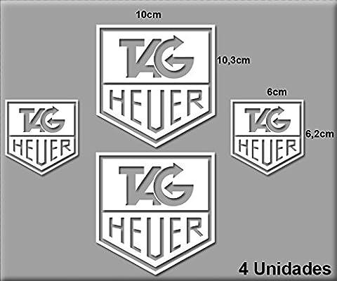 PEGATINAS TAG HEUER CLOCK R68 VINILO ADESIVI DECAL AUFKLEBER STICKERS CAR VOITURE SPORT RACING BLANCO/WHITE