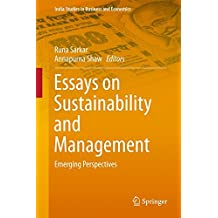 in runa sarkar books essays on sustainability and management emerging perspectives studies in business and economics