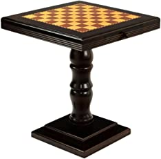 Stoa Paris Brown Chess Table And Set of Wooden Chess Men (Chess Table)