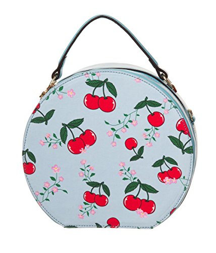 Banned BLINDSIDE Vintage CHERRY Kirschen Round Bag HANDTASCHE -...