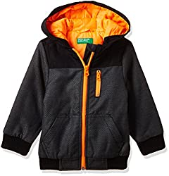 United Colors Of Benetton Boys Jacket (17A2JACKZ018I901XX_Black)