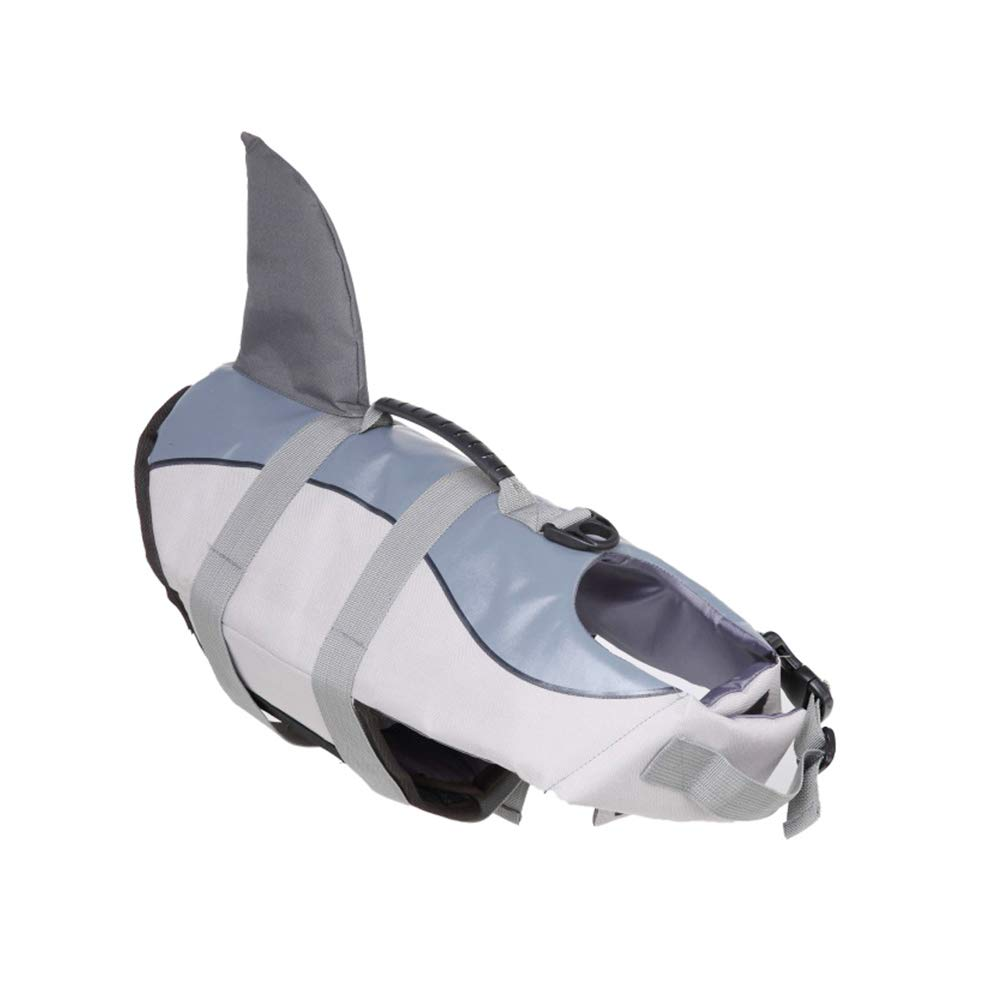 Asien Dog Life Jacket Gray Shark L Pet Supplies Surfing Boating Puppy Buoyancy Aid Reflective Dog Swimming Vest