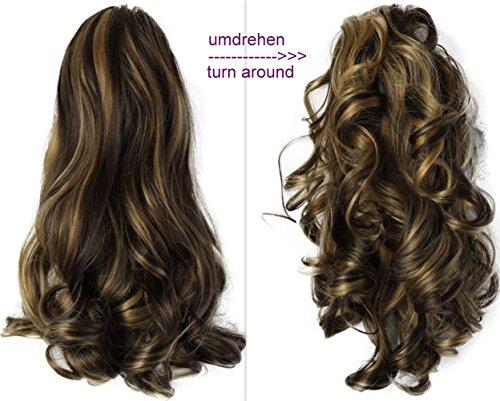 PRETTYSHOP 2 IN 1 Haarteil Pferdeschwanz Zopf Haarverlängerung Haarverdichtung ca 40cm und 50 cm braun blond mix #6H25 H12-2