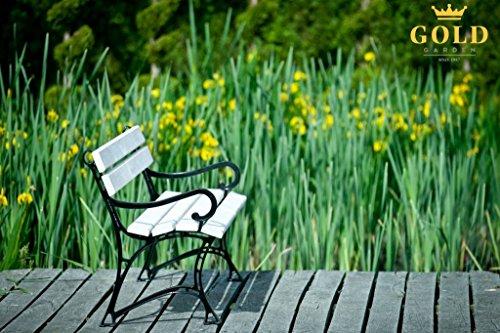 GOLD GARDEN G02022 Gartenbank Toskana aus weissem Fichtenholz 150 cm für 3 Personen - 9