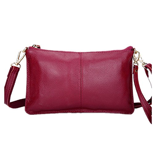 Eysee, Poschette giorno donna Nero rosa 24cm*14cm*1cm Vino rosso