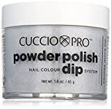 Cuccio schwarz Glitzer Nail Colour Dip System Tauchen Puder