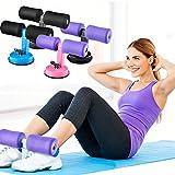 UxradG - Aparato de Fitness Abdominal, Ventosa, Multifunción, Portátil, Equipo de Fitness para Hombres y Mujeres, Purple Foam on Black