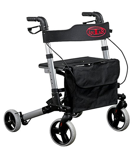 FabaCare Alu-Rollator Premium, Leichtgewicht-Reise...