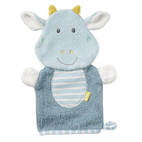 Fehn 065206 Waschhandschuh Drache / Waschlappen mit Tiermotiv für fröhlichen Badespaß, für Babys und Kinder ab 0+ Monaten