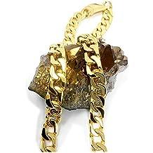 b2f94e067194 Collar de cadena de eslabones cubanos de oro de 24 quilates para hombre