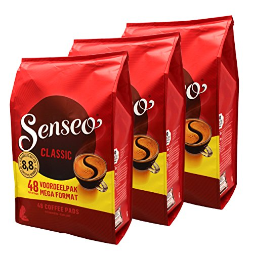 Senseo Kaffeepads Classic / Klassisch, 3er Pack, Intensiver und Vollmundiger Geschmack, Kaffee, 144...