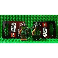 Finn & Poe Dameron - LEGO keyrings/keychains - Star Wars - 2 Pack