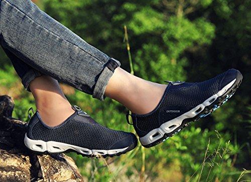 Chaussure de randonné mixte adulte homme femme mesh respirent basket mode outdoors sneakers cross-country bleu foncé