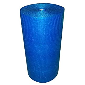 Realpack – Rollo de papel de burbujas (750 mm x 100 m), color azul