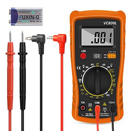 Digital Multimeter, Nakeey Multimeter Voltmeter Auto-Range AC/DC Multimeter Voltmeter Amperemeter Ohmmeter mit Temperaturmessung