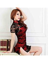 Classique Lace Intérêt Cheongsam Temptation Underwear Femmes Sexy Pyjama Pack Hip Uniforme Jupes Courtes