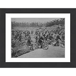 Framed 16x12 Print of Cycle Battalion (12021752)