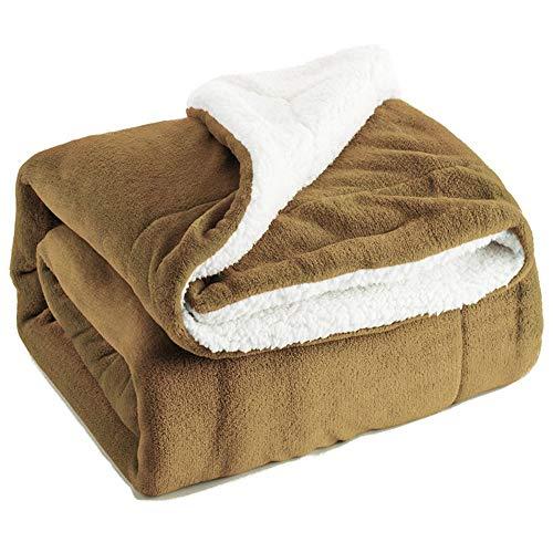 ZWNSWD Zuhause Bettbezüge Gute Qualität Kaschmir Einfarbig Decke Dick Warm Samt Decke (130 * 160CM),A