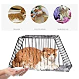 XIAOHAOYU Pet Cat Bath Cat Grooming Bag Cat Shower Cage Cat Restraint Cage Dog Bath Cage Trimming Cage Shower Bath,Black