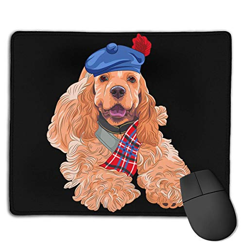 Mouse Pad Russian Dog with Scarf Rectangle Rubber Mousepad 8.66 X 7.09 Inch Gaming Mouse Pad with Black Lock Edge