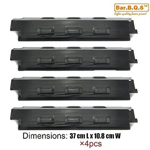 Bar.b.q.s H98531 (4er Pack) Porzellan Stahl Wärmeplatte, Hitzeschild, Wärmezelt, Brennerabdeckung,