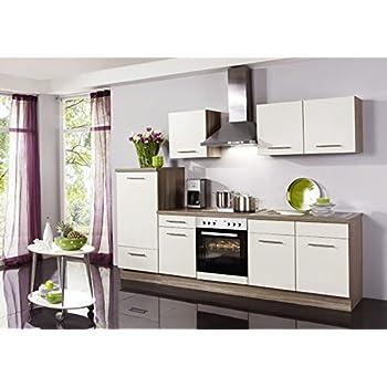 Küchenzeile wiebke inkl elektrogeräte und ceranfeld 270 cm