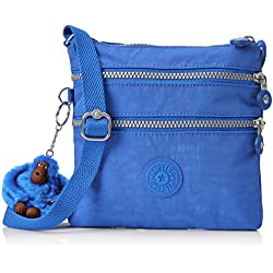 Kipling Alvar S, Bolsa bandolera para Mujer, Azul (Saxony Blue), 2x18.5x18 cm (B x H x T)