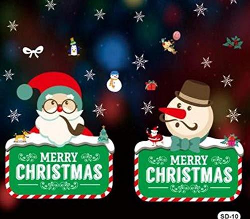 Djkaa Weihnachtsmann Paste Papier Tür Aufkleber Fenster Papier Shop Selbstklebende Weihnachten Glas Film Halloween Wallpaper Aufkleber