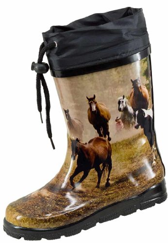 Nora Wild Horses, les enfants et de Barrage engummi Bottes Marron