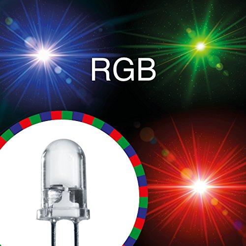 50x LED 5mm RGB + 12V Rot Grün Blau LEDs Farbwechsel blinkend Farbe wechselnd -