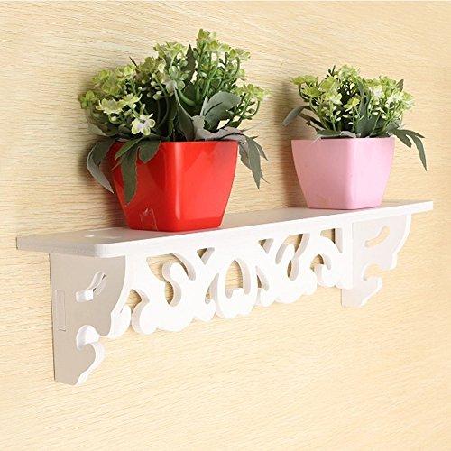 Estante de pared de madera, color blanco, diseño curvado, para decoración del...