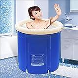 AXYP Aufblasbare Badewanne für Erwachsene Isolier-Baby-Schwimmbecher Badeeimer Bade-Eimer Collapsible blau (größe : 70*70cm)