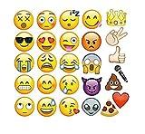 Freessom Photobooth Mariage Anniversaire Drole Kit de 27pcs Emoji Caca Masque Props Accessoire de Déguisement Photos Photomaton Vintage Bricolage Bubble DIY Deco Pour Fete Party Soiree Cadeau Ideal