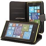ECENCE Nokia N8 handy tasche case Brieftasche Wallet klapp schutz hülle cover inklusive Displayschutzfolie Book-Style mit Standfunktion Standfuss schwarz 42010105
