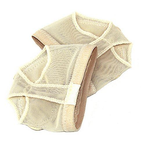 TOOGOO (R) Professionelle Bauch/Ballett Dance Fuß Pad Praxis Schuhe Fuß Tanga Schutz Dance Socken Kostüm Gamaschen Zubehör M