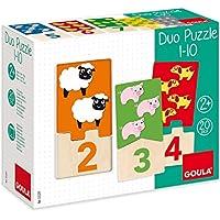 Goula Puzzle infantil para contar del 1 al 10 - Peluches y Puzzles precios baratos