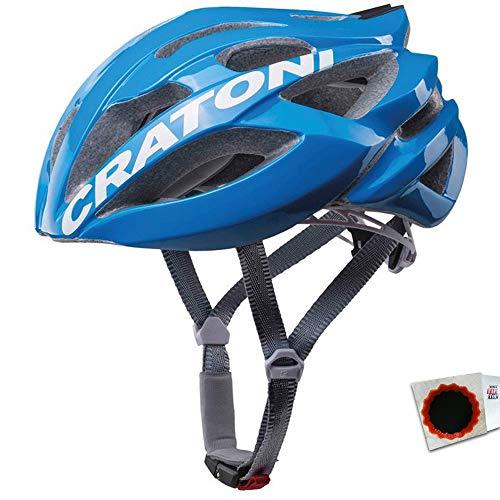 Cratoni Fahrradhelm C-Bolt Road Gr. L/XL 59-62cm Glanz blau Weiss Fahrrad -