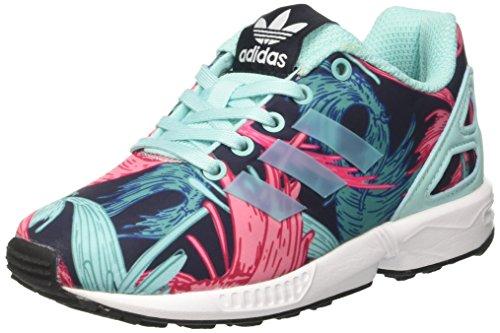 adidas Unisex Kids' Zx Flux C Gymnastics Shoes, Multicolor (Energy Aqua F17/Energy...