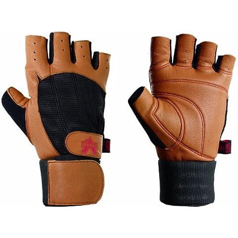 Valeo Ocelot Wrist Wrap Glove, Tan and Black, Medium