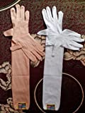 Good Quality 2 Pair ( White+Skin ) Mens & Womens Very Use Full In Hot Summer Day ,Full Hand Glove