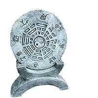 Chinesisches Stein Gartenhoroskop Schriftzeichen YIN YANG Steinguss frostfest