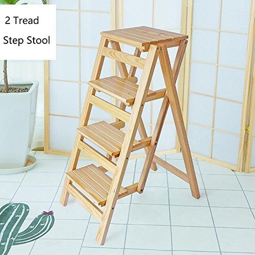 HD Step stool Feng Xu 4 Schritt-Schemel-Leiter für Erwachsene u. Scherzt hölzernen faltenden Trittleiter-hölzernen kleinen Fuß-Schemeln tragbarer Schuh-Innenbank/Blumen-Zahnstange Trittleiter